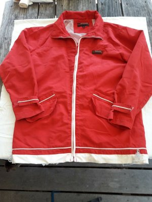 Chaqueta para exteriores rojo-blanco puro