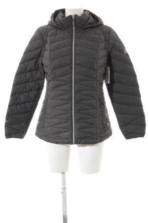Outdoor Jacket dark grey quilting pattern street-fashion look