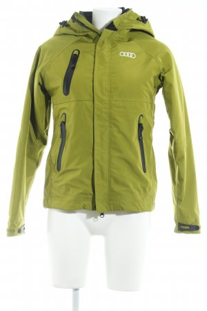 Outdoor Jacket grass green-black athletic style