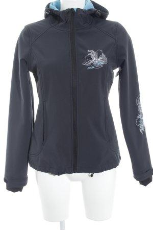 Veste d'extérieur gris ardoise-bleu clair style simple