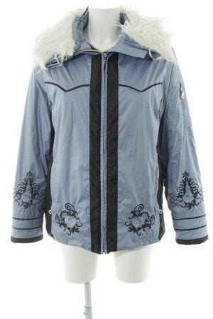Chaqueta para exteriores azul aciano-blanco puro look Street-Style