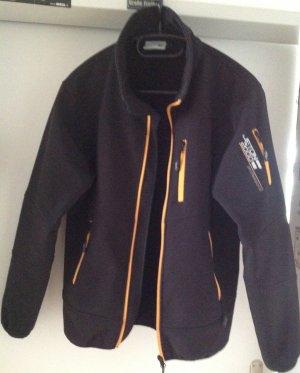 Veste d'extérieur noir-orange doré lycra