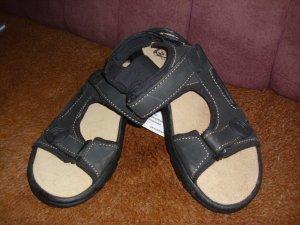 Sandalo outdoor nero Finta pelle