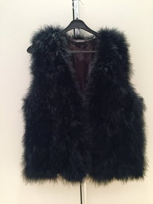 Twin set Fur vest black fur