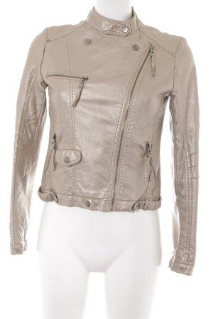 outerwear Bikerjacke beige Biker-Look