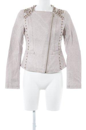 outerwear Kunstlederjacke altrosa Romantik-Look