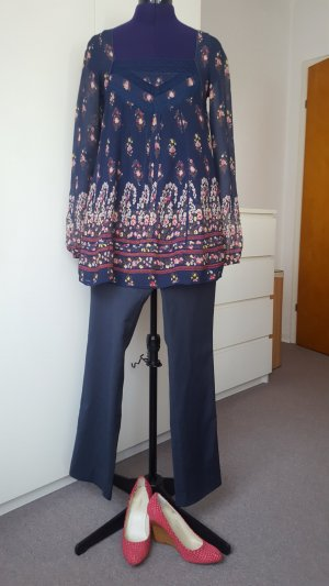 Outfit 3 pieces- River Island top, S + River Island trousers, 34 + Maxstudio wedges shoes, 37