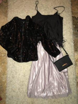 Zara Jupe mi-longue gris violet-noir