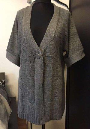 NKD Cárdigan de manga corta gris antracita-gris oscuro