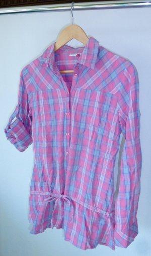 Outfit Fashion Langarm-Bluse, kariert, mit Bindeband