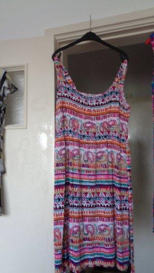 Robe de plage multicolore coton