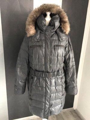 Outwear Daunen Steppmantel Gr. 48/50 - grau meliert