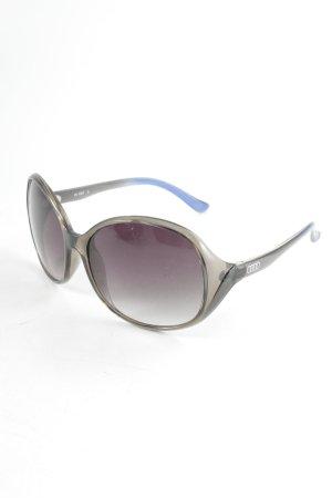 ovale Sonnenbrille grau-blau Farbverlauf sportlicher Stil