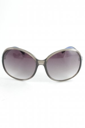 Oval Sunglasses grey-blue color gradient athletic style