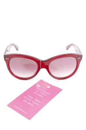 "ovale Sonnenbrille ""Manhatten 1960 Raspberry Coulis"" bordeauxrot"