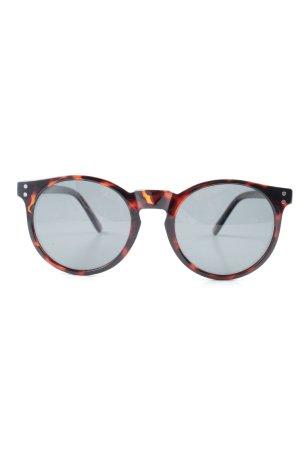 Miller ovale Sonnenbrille schwarz-braun Animalmuster Street-Fashion-Look