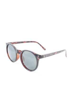ovale Sonnenbrille schwarz-braun Animalmuster Street-Fashion-Look