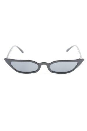 ovale Sonnenbrille schwarz extravaganter Stil