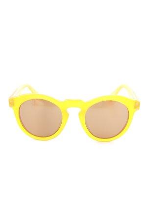 ovale Sonnenbrille schwarz-orange minimalistischer Stil