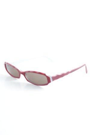 ovale Sonnenbrille türkis-ziegelrot Retro-Look