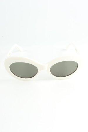 Lunettes de soleil ovales blanc-noir style des années 90