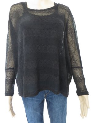 Over-Size-Pullover leicht transparent