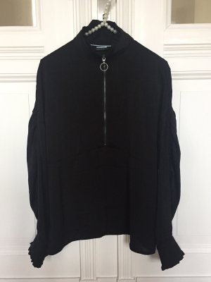 Noisy May Stand-Up Collar Blouse black