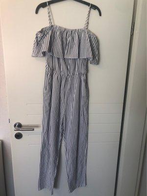 H&M Off-The-Shoulder Dress white-grey