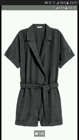 H&M Abito da uomo nero-antracite Modal