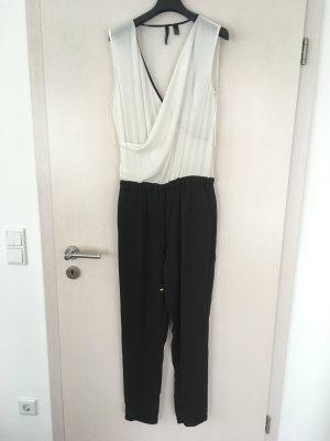 Mango Suit Tuta bianco-nero