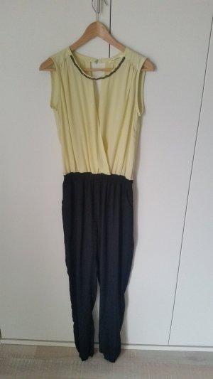 Pantalone nero-giallo chiaro