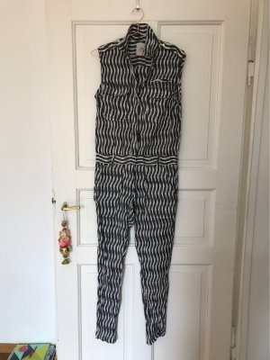 Trouser Suit white-black