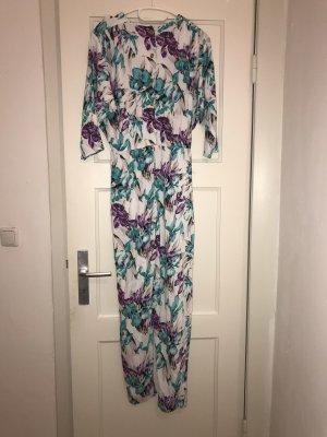 Vintage Vestido tipo blusón multicolor