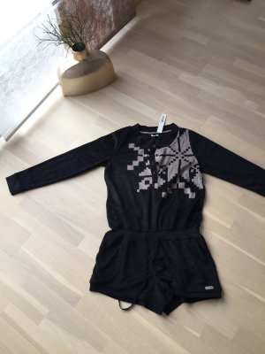 DKNY Tuta nero-color cammello