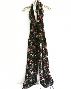 overall / jumpsuit / onepiece / free people / black & flowers / boho / hippie