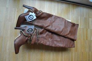 Overknee Boots Stiefel Antik Batik braun 40 NEU