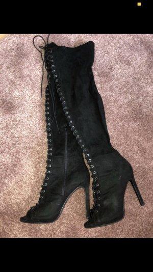 Kniehoge laarzen zwart