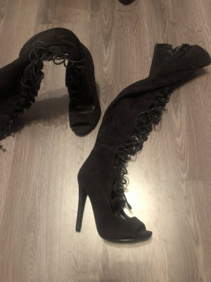 Daisy Street Botas sobre la rodilla negro