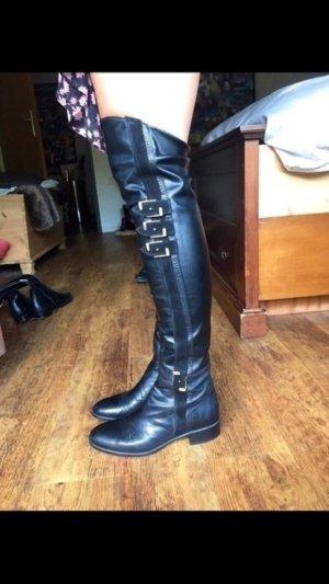 Kniehoge laarzen goud-zwart