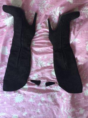 Overknee Schuhe mit Absatz