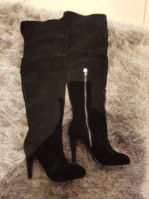 Miss Sixty Stivale cuissard nero Scamosciato