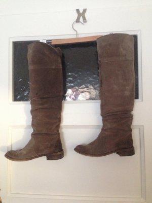 Overknee Stiefel | 36,5 | echtes Leder | Fashion | Hipster | Boho