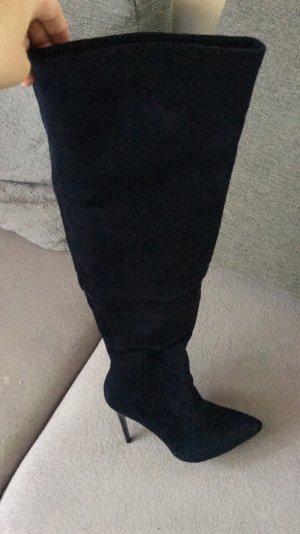 Kniehoge laarzen donkerblauw