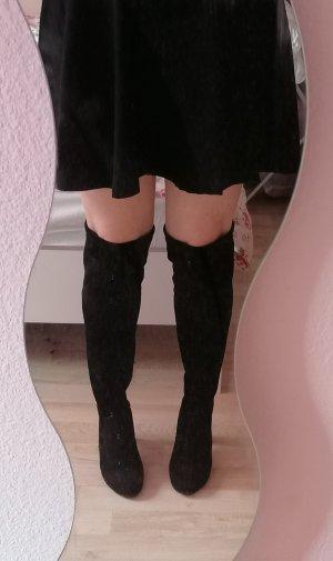 Kniehoge laarzen zwart Synthetisch