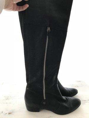 Lavorazione Artigiana Cuissarde noir-gris clair cuir