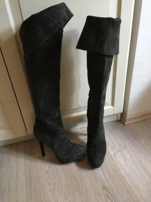 Overknee Stiefel anthrazit/grau Größe 39
