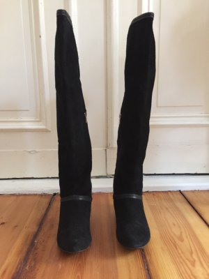 Overknee Stiefel aus Wildleder