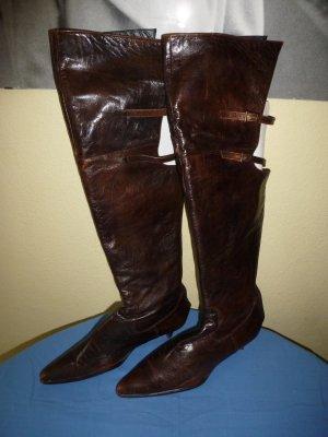 Overknee - Stiefel, braun, angenehmes Leder - Gr. 41 - in gutem Zustand