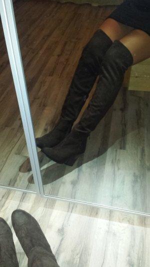 Overknee Stiefel braun H&M