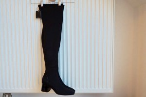 Zara Botas sobre la rodilla negro Material sintético